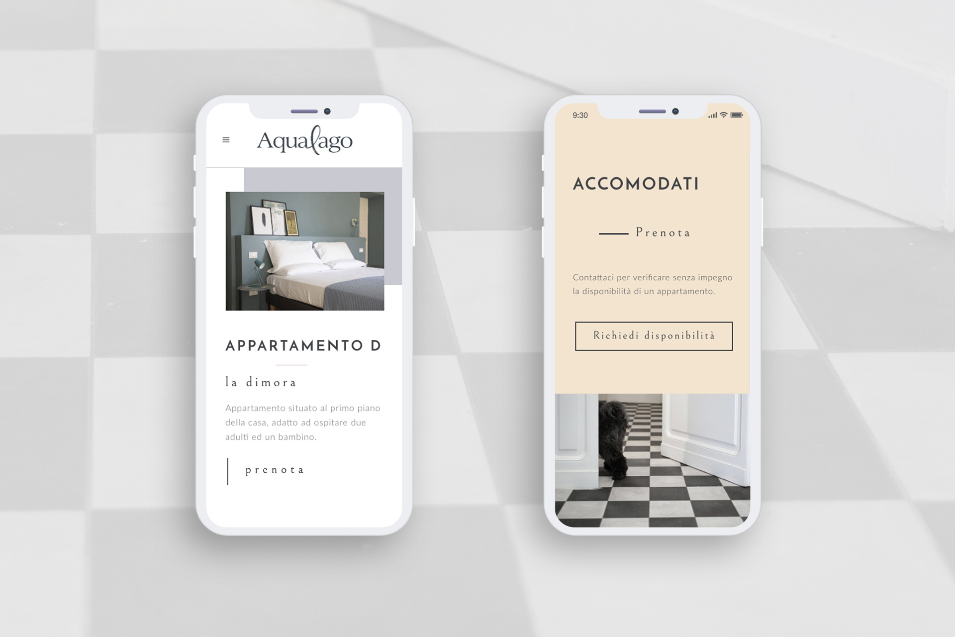 Mobile website Acqualago